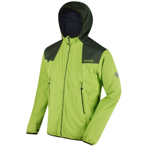 Regatta STATIC IV LIGHTWEIGHT SOFTSHELL - Lime Green / Racing Green (Seal Grey)